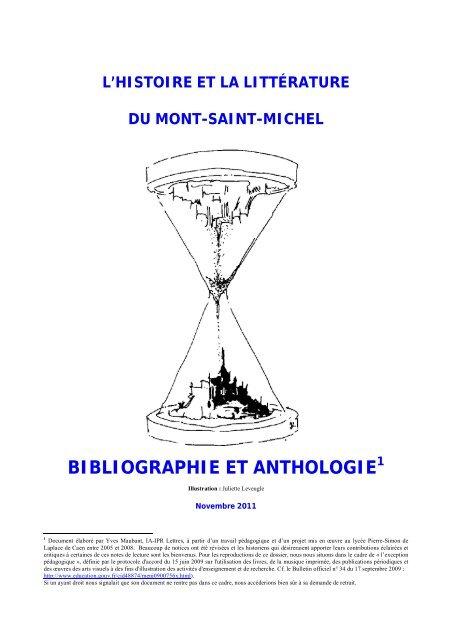 Anthologie Mont Saint Michel Lettres Modernes