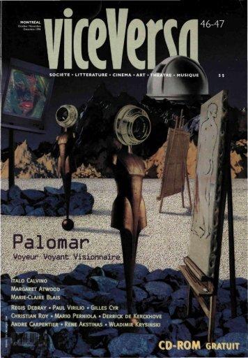 N. 46/47 Palomar : voyeur, voyant, visionnaire - ViceVersaMag