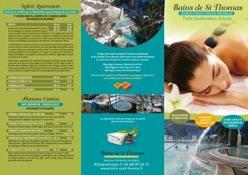 télécharger le fichier pdf - Les Bains de Saint-Thomas