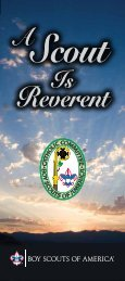Brochure - A Scout Is Reverent - Boy Scouts of America