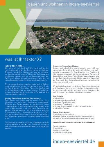 Infobroschüre Seeviertel Inden - Aachener Stiftung Kathy Beys