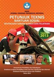 Petunjuk Teknis Bantuan Sosial Revitalisasi Sarana Kursus dan ...
