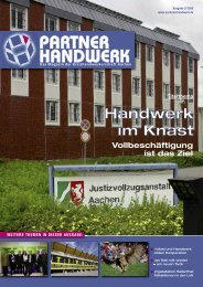 Partner Handwerk 2/2009 - Kreishandwerkerschaft Aachen