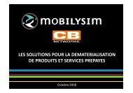 les solutions pour la dematerialisation de produits et ... - CB Networks