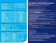 Tarifs détaillés Carrefour Mobile Sans Engagement