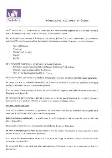 ri périscolaire - Communauté de Communes du Chardon Lorrain