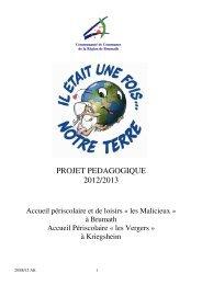 Projet pédagogique 2012/2013 - Brumath