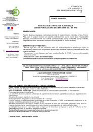 Garderie périscolaire pour enfant(s) de 3 à 6 ans - Académie de ...