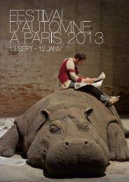 Maquette FàP 2013 - Festival d'automne à Paris