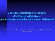 Carcinose péritonéale secondaire des tumeurs digestives ...