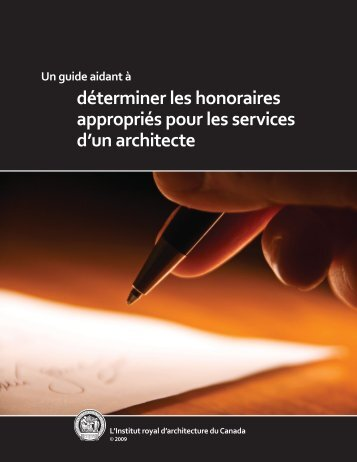 déterminer les honoraires appropriés pour les services d'un architecte