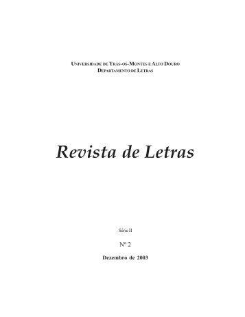 Revista de Letras - Utad - Universidade de Trás-os-Montes e Alto ...
