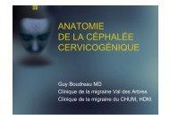 anatomie de la céphalée cervicogénique - Chumneurologie.org