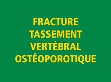 fracture tassement vertébral ostéoporotique - Observatoire du ...