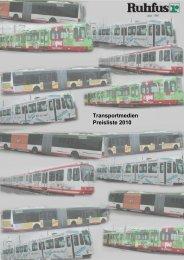 Transportmedien Preisliste 2010 - Ruhfus