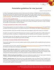 Postulation guidelines for new journals - Redalyc - Universidad ...