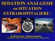Analgésie -sédation, Dr Fillet - Association Nationale des Médecins ...