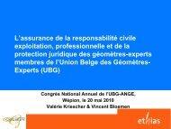 Assurances GERARDY SPRL - Union des Géomètres-Experts du ...