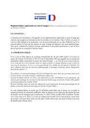 Réglementation applicable au nom d'usage - Le Défenseur des Droits