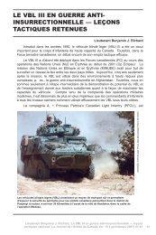 Le VBL III en guerre anti-insurrectionnelle — leçons tactiques retenues