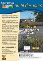 Au fil des jours - juin 2010 - Saint-Benoît