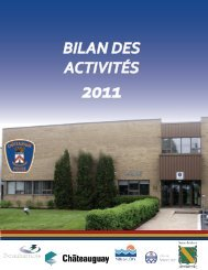 Rapport annuel 2011 - Ville de Châteauguay