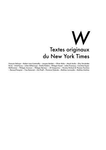Textes originaux du New York Times - Émilie Notéris