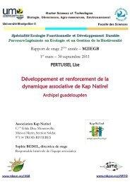Association Kap Natirel - Master écologie biodiversité