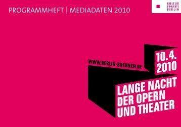 PrOgrAmmheft | mediAdAten 2010 - Runze & Casper