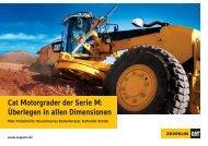 Cat Motorgrader der Serie M - Zeppelin Baumaschinen GmbH