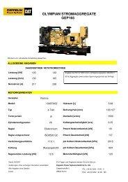 olympian stromaggregate gep165 - Zeppelin Baumaschinen GmbH