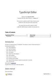 TypoScript Editor - Zeppelin Museum