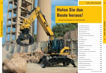 Greifer, Löffel, Schaufeln - Zeppelin Baumaschinen GmbH