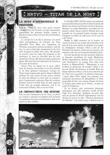 Télécharger Mrtyu, Titan de la Mort en .pdf
