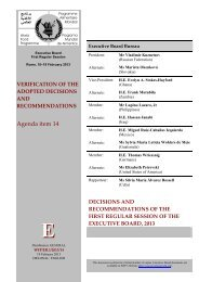 Decisions and Recommendations of the First Regular Session