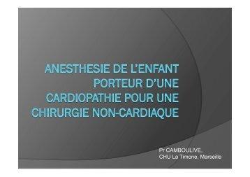 Anesthesie pour chirurgie non cardiaque chez ... - CHU - Montpellier