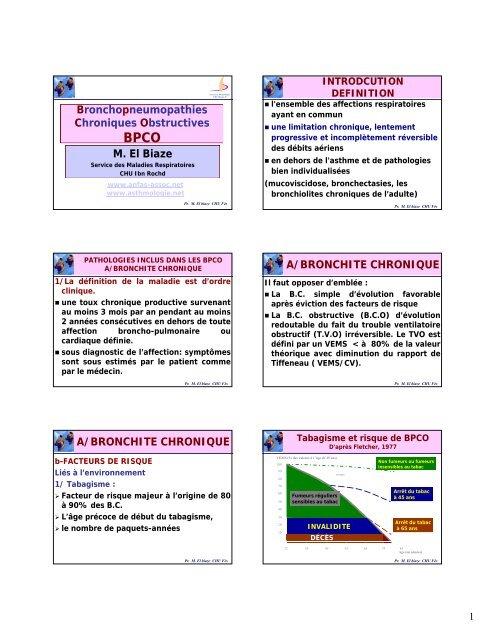 Bronchopneumopathies Chroniques Obstructives M. El Biaze A ...