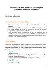 Protocoles en anesthésie obstétrique rédigés ... - CHU - Montpellier