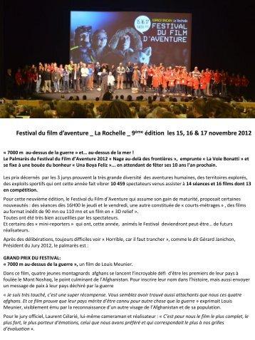 Télécharger - Festival du film d'aventure de La Rochelle