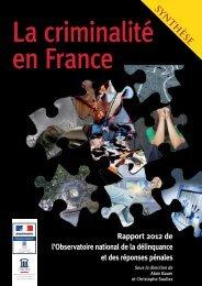 Synthèse du rapport annuel 2012 de l'ONDRP - inhesj