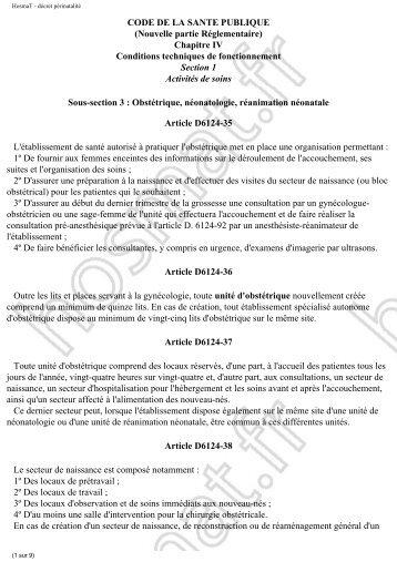 code de la sante publique - HosmaT