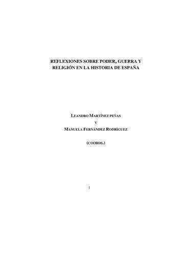REFLEXIONES SOBRE PODER, GUERRA Y RELIGIÓN EN LA ...