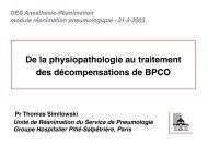 De la physiopathologie au traitement des décompensations de BPCO