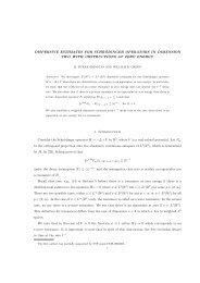 DISPERSIVE ESTIMATES FOR SCHR¨ODINGER OPERATORS IN ...
