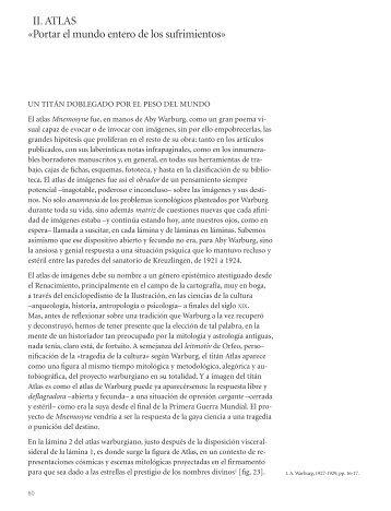 II. ATLAS «Portar el mundo entero de los sufrimientos - Museo ...