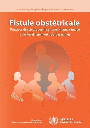 Fistule obstétricale - Principes directeurs pour la prise en charge ...