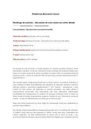 Plataforma Barometro Social Rankings de escolas - Repositório da ...