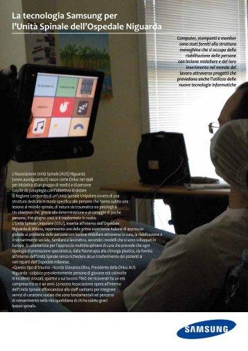 La tecnologia Samsung per l'Unità Spinale dell'Ospedale Niguarda