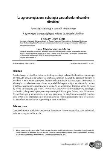 La agroecología: una estrategia para afrontar el ... - Universidad Libre