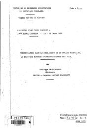 Podzolisation dans le nord-ouest de la Guyane Française : un ... - IRD